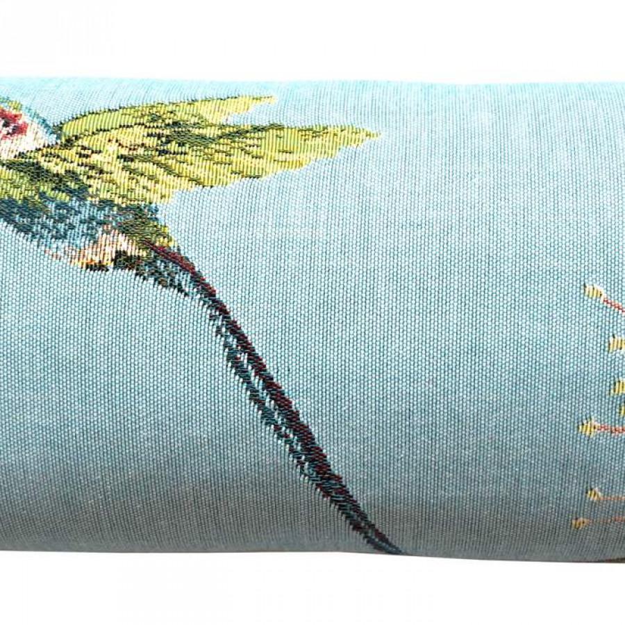 5676T : Eucalyptus et colibri, fond bleu