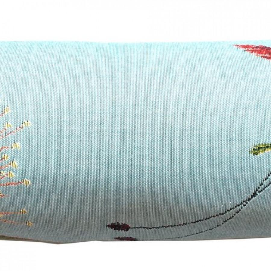 5676T : Big eucalyptus flower, blue background