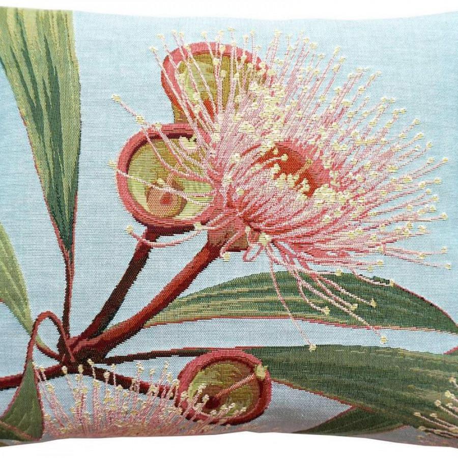 5675T : Grande fleur d'eucalyptus, fond bleu