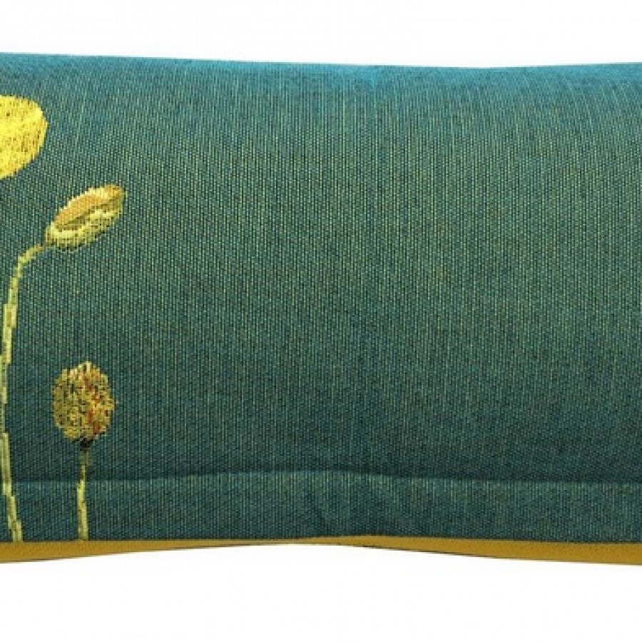 5665V : Yellow poppies, green background