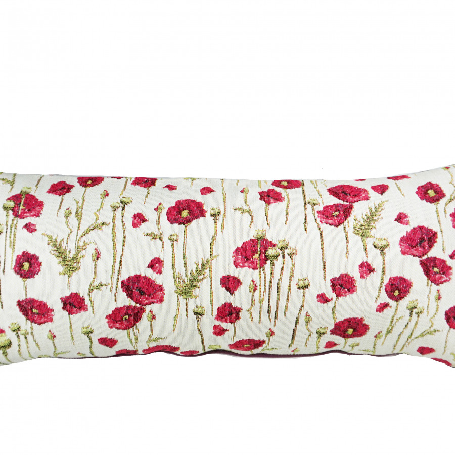 Cushion cover poppies all over