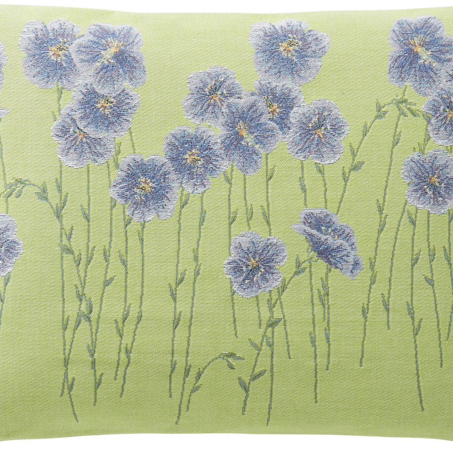 5729V : flax flower field, green backgroung
