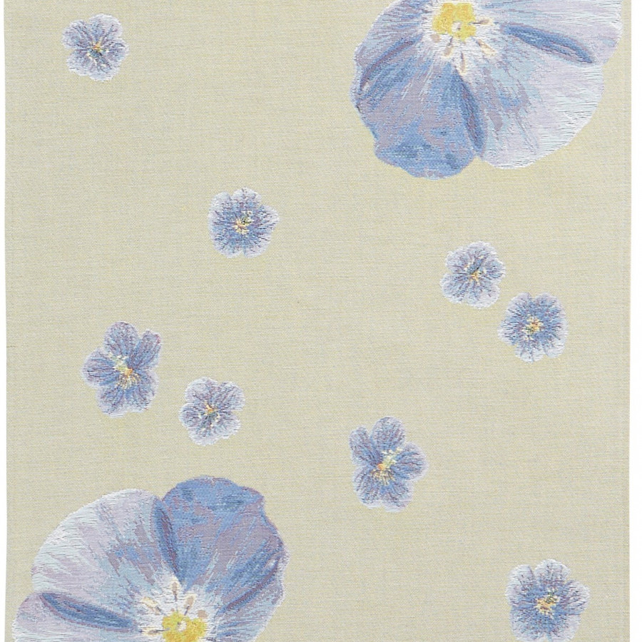 Table runner flax flowers