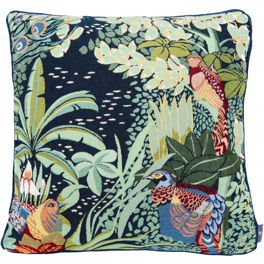Tapestry cushion cover Jungle and three birds