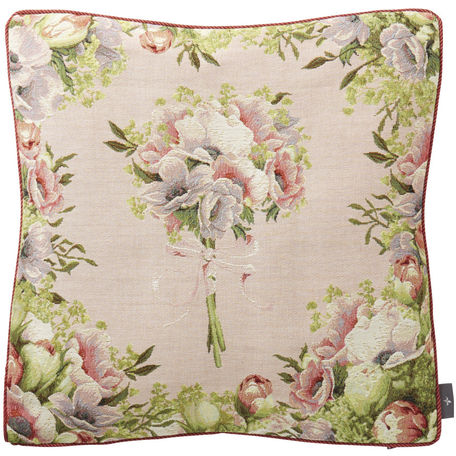 Cushion cover Bunch framed with flowers