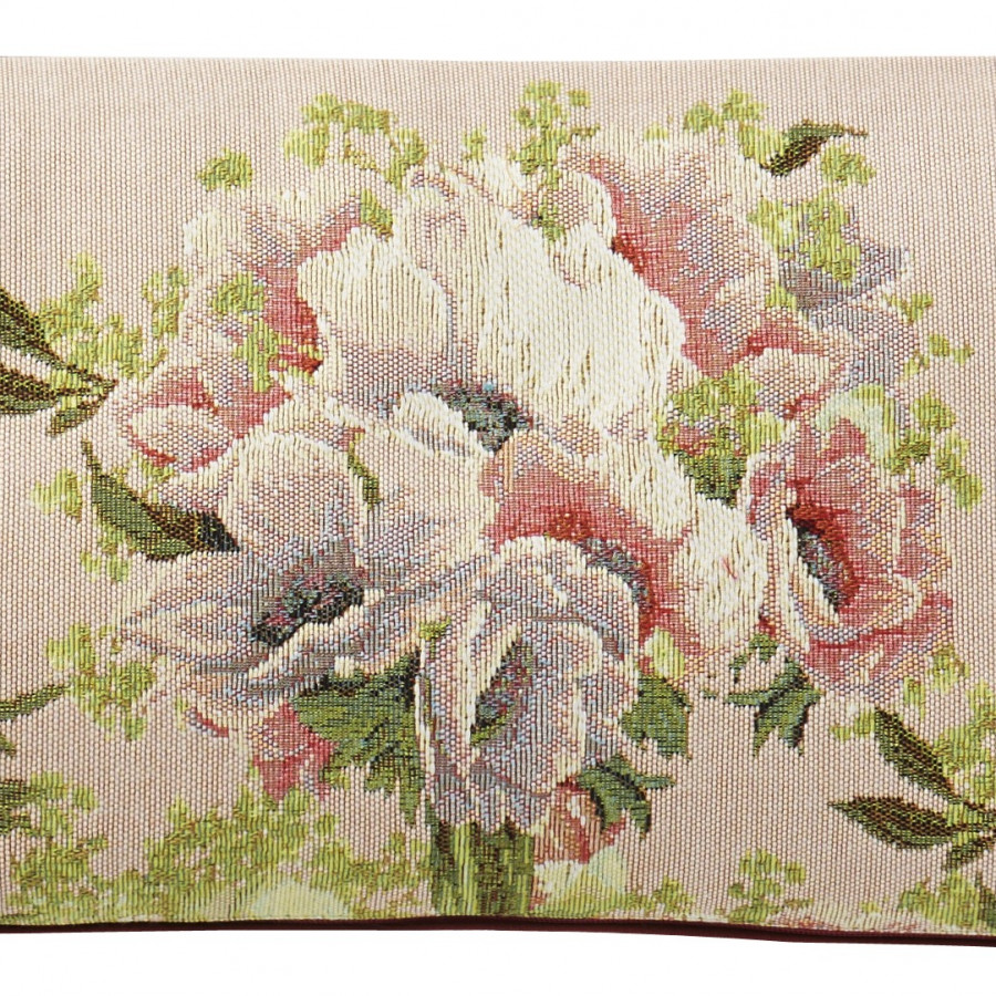 5748E : Bouquet et fleurs, fond rose