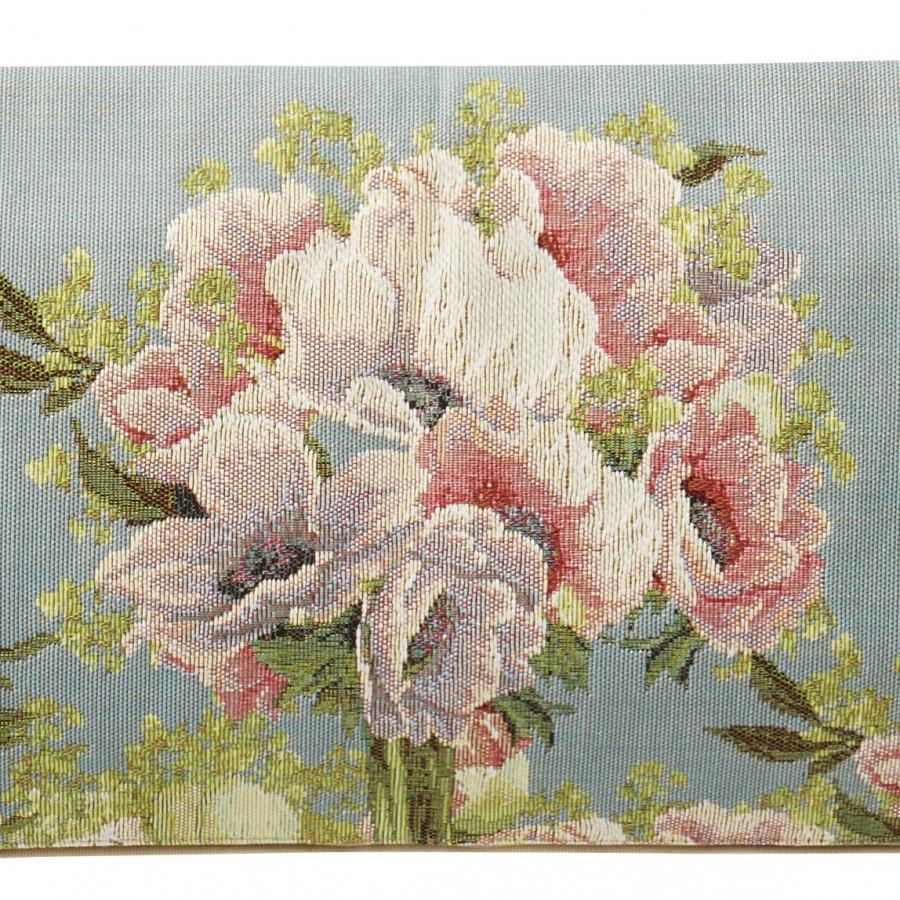 5748T : Bouquet et fleurs, fond bleu