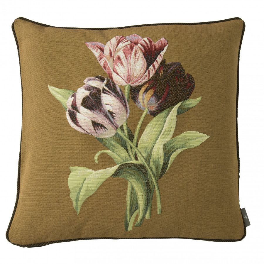 5762K : Bouquet de 3 tulipes, fond marron