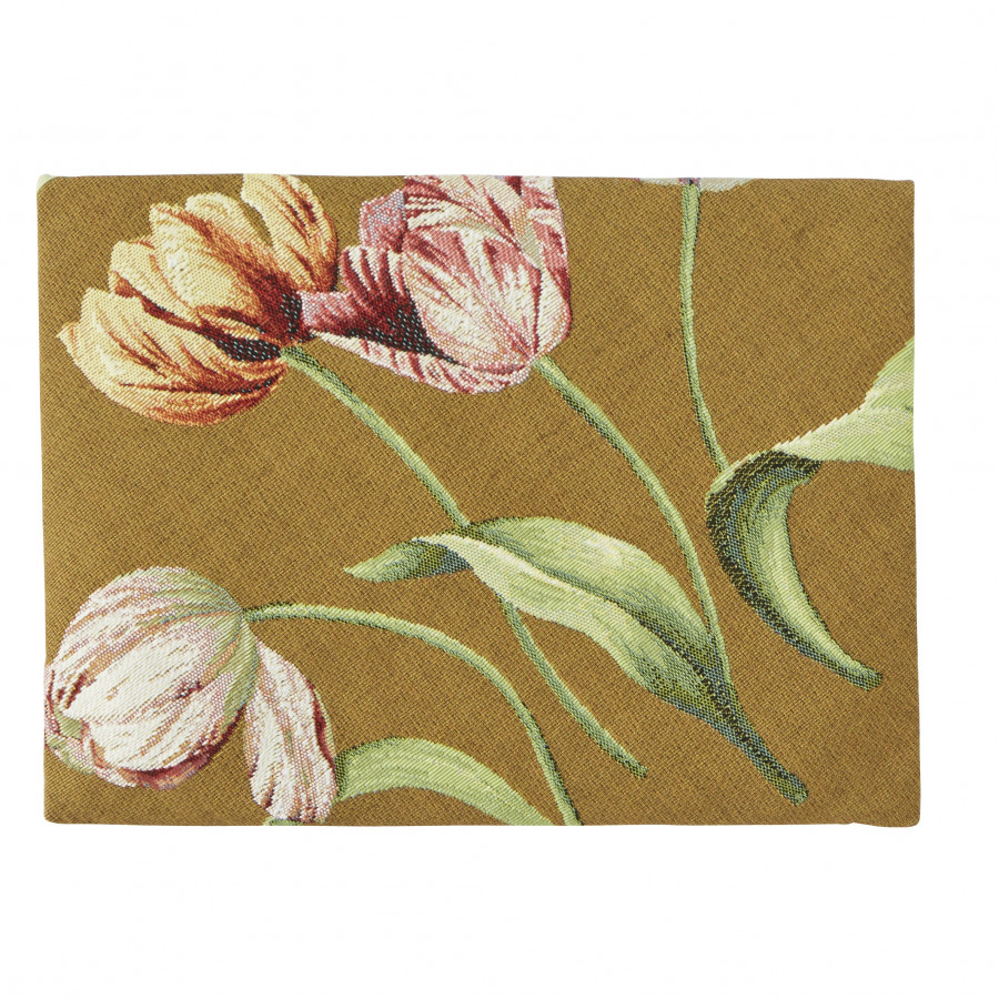 OR5763B : Cinq tulipes, fond blanc
