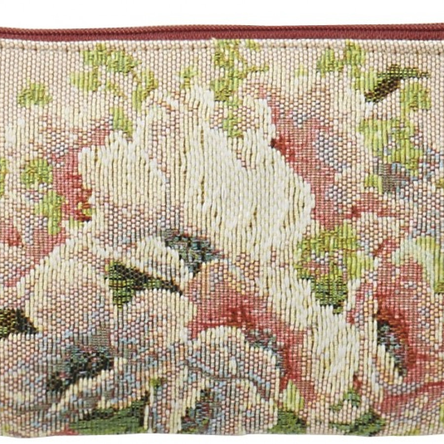 5749E : Purse Bouquet and flowers, pink background