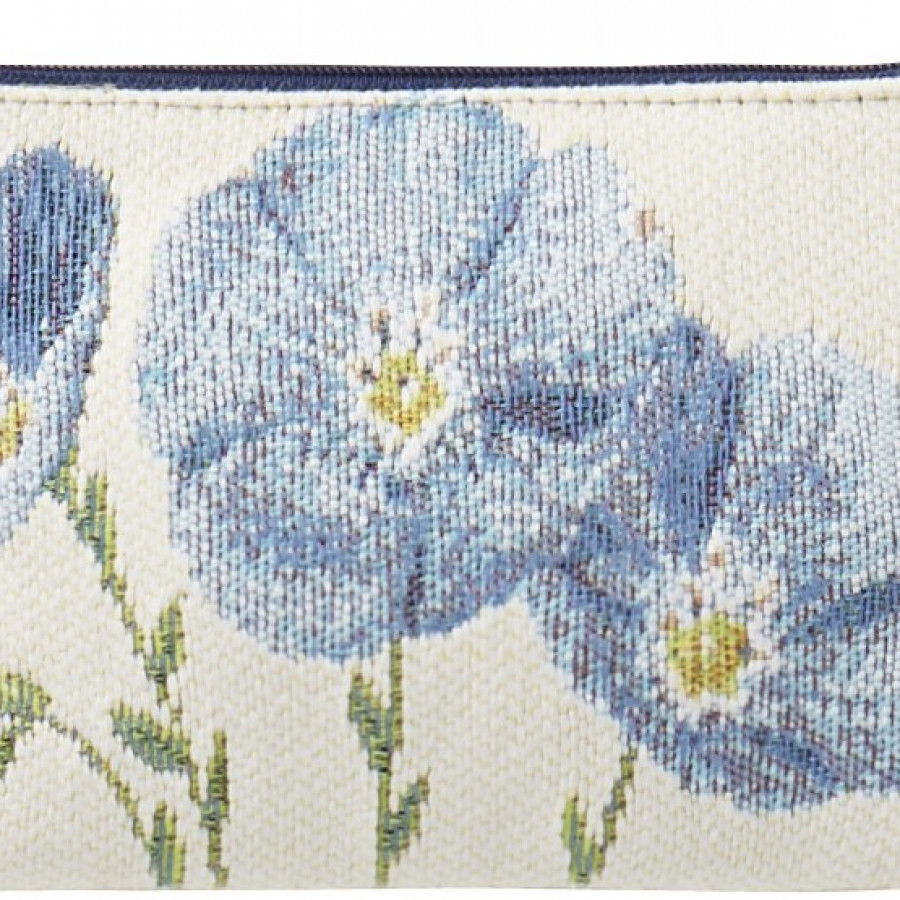 5731B : Purse Flax flowers, white backgroung