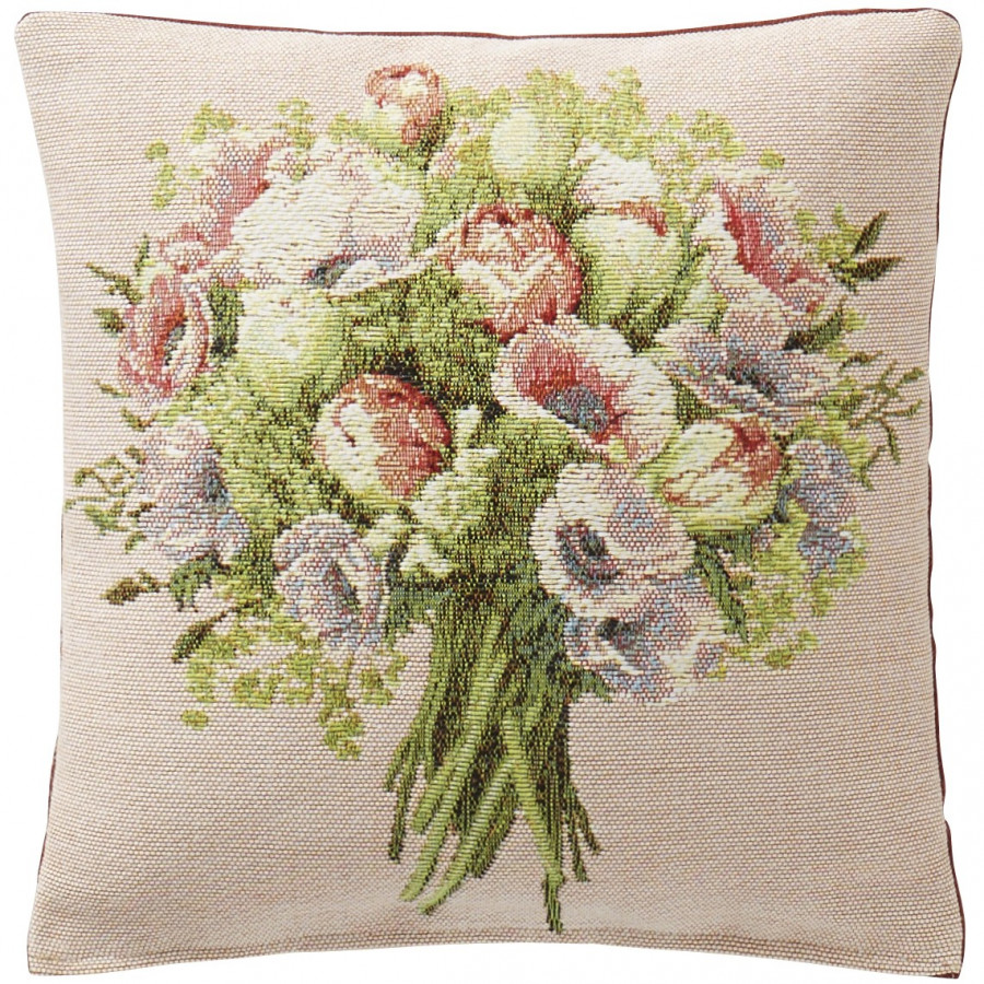 5745E : Small cushion Big flower bunch, pink background