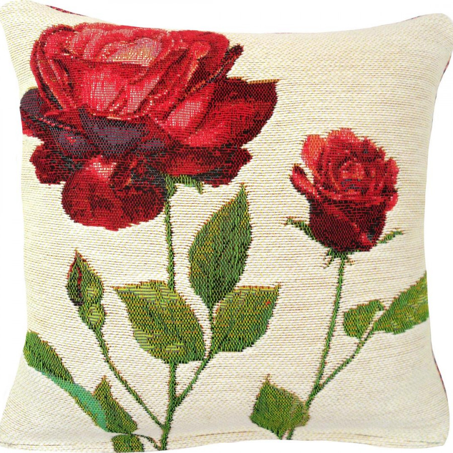5421B : 2 roses rouges, fond blanc