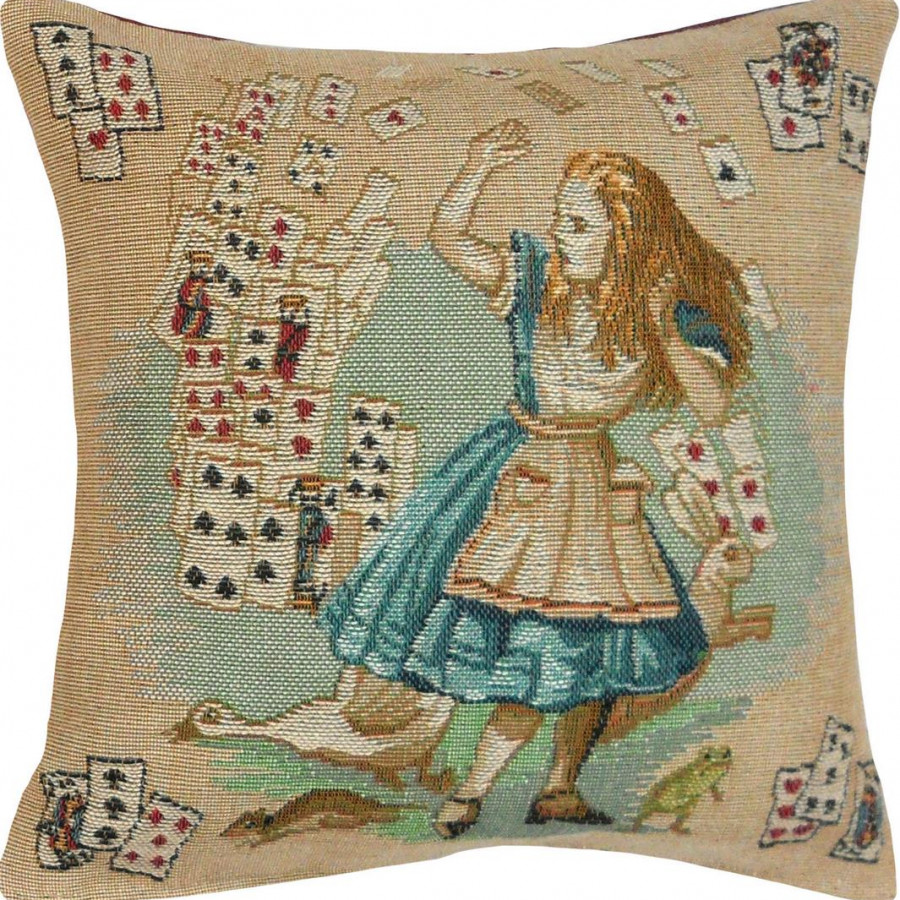 2181D : Jeux de cartes, Alice au pays des merveilles fond beige