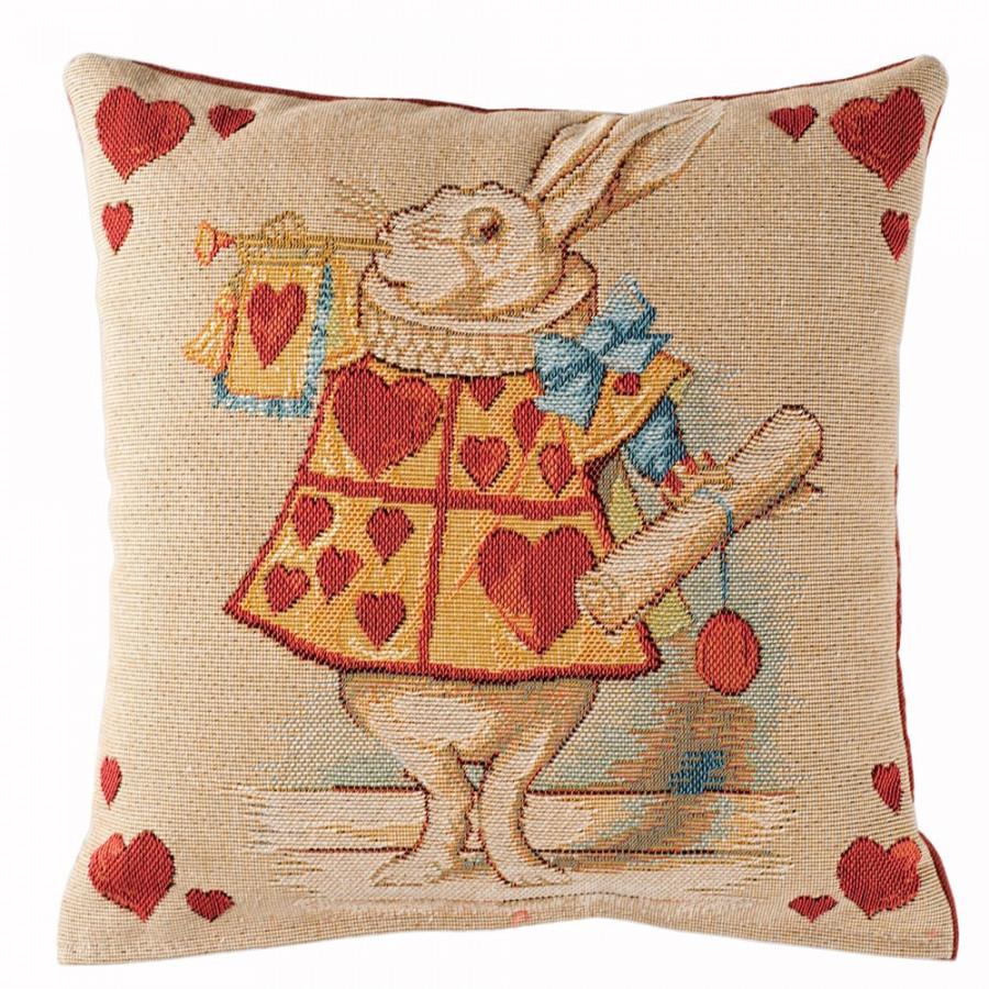 Housse de coussin Lapin coeur, Alice au pays des merveilles