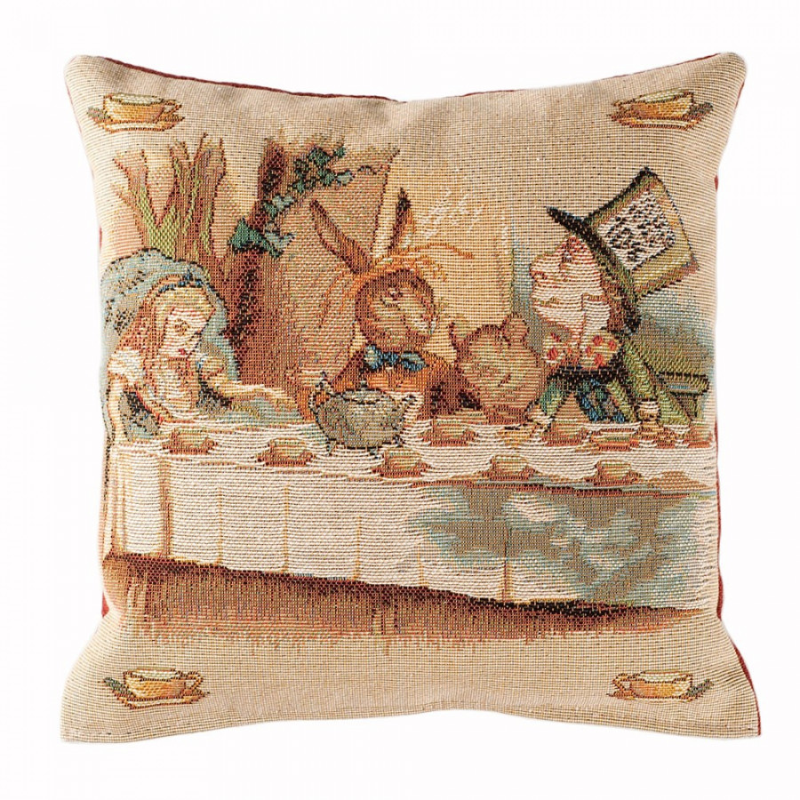 Cushion cover The tea party, Alice in Wonderland