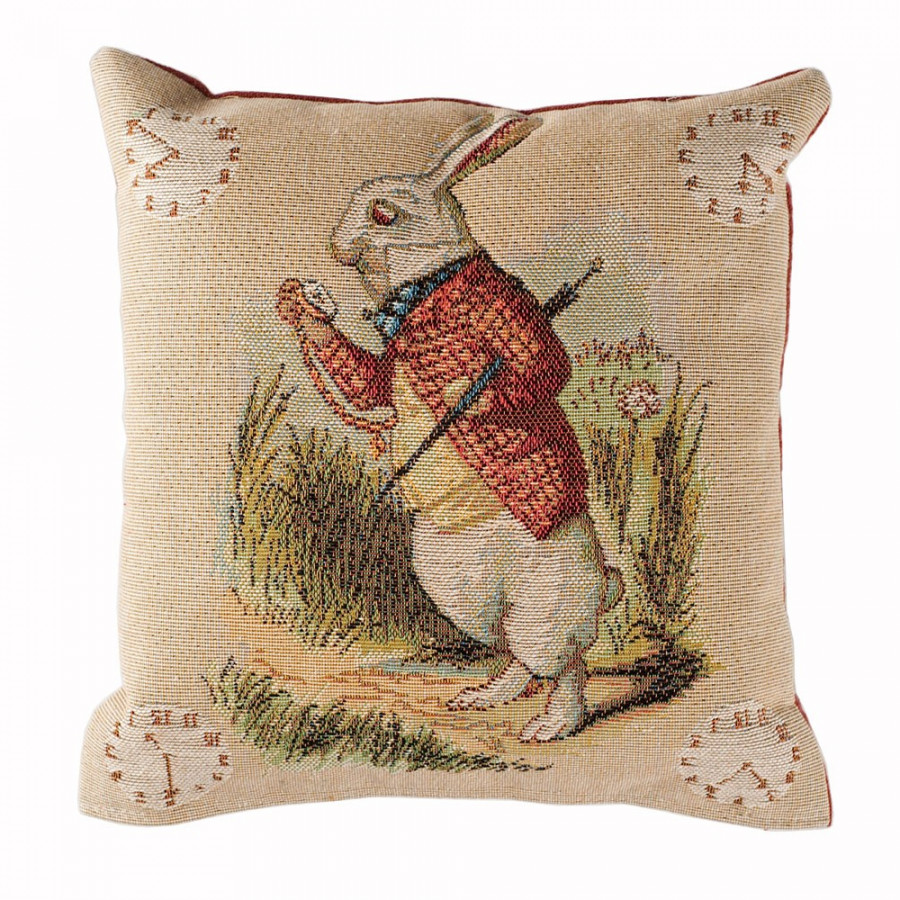 8718 : Small cushion Late Rabbit, Alice in Wonderland
