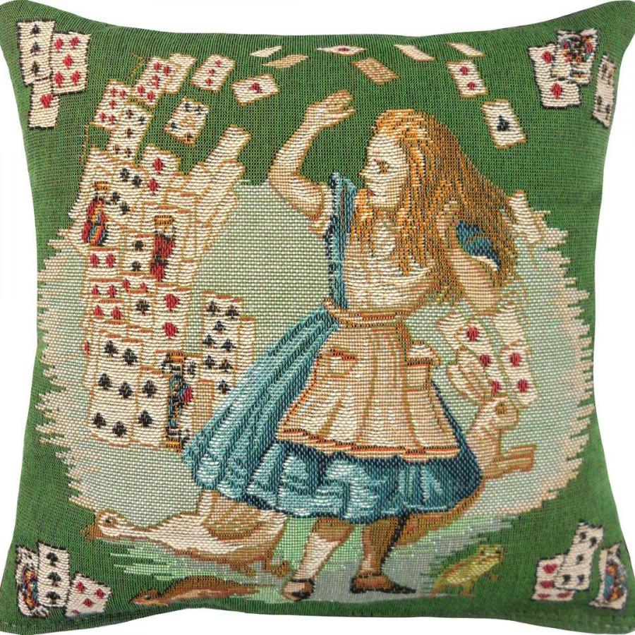 2181V : Jeux de cartes, Alice au pays des merveilles fond vert