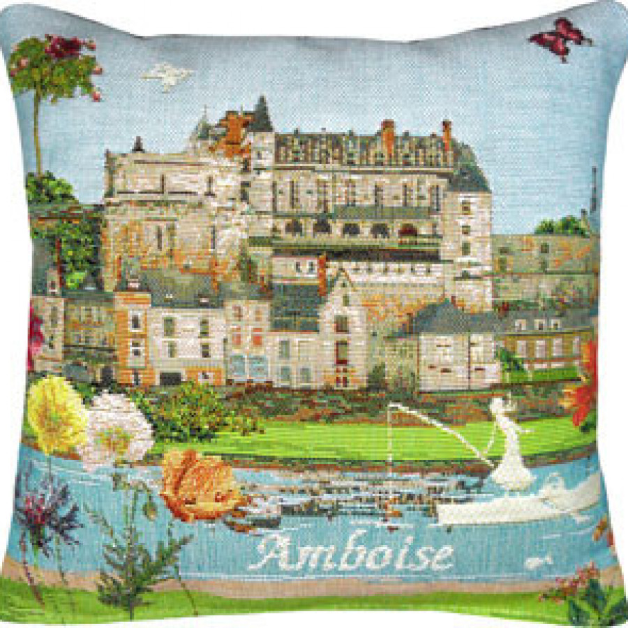 5455X : Small cushion Amboise castle