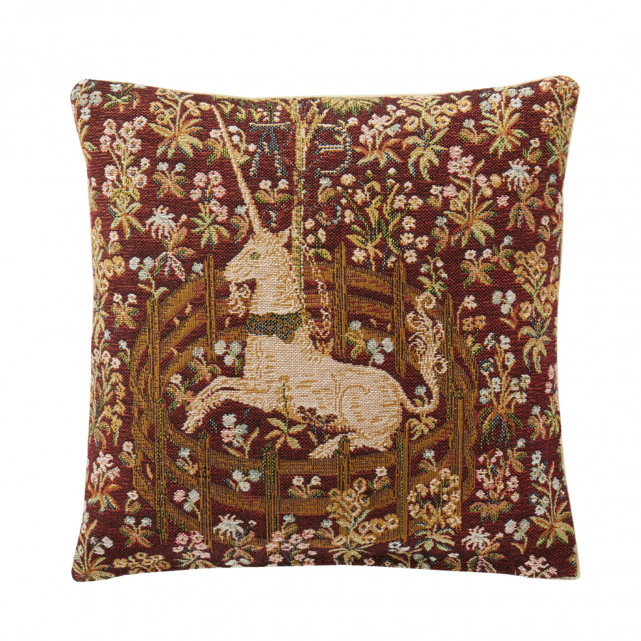 Small cushion Licorne captive red