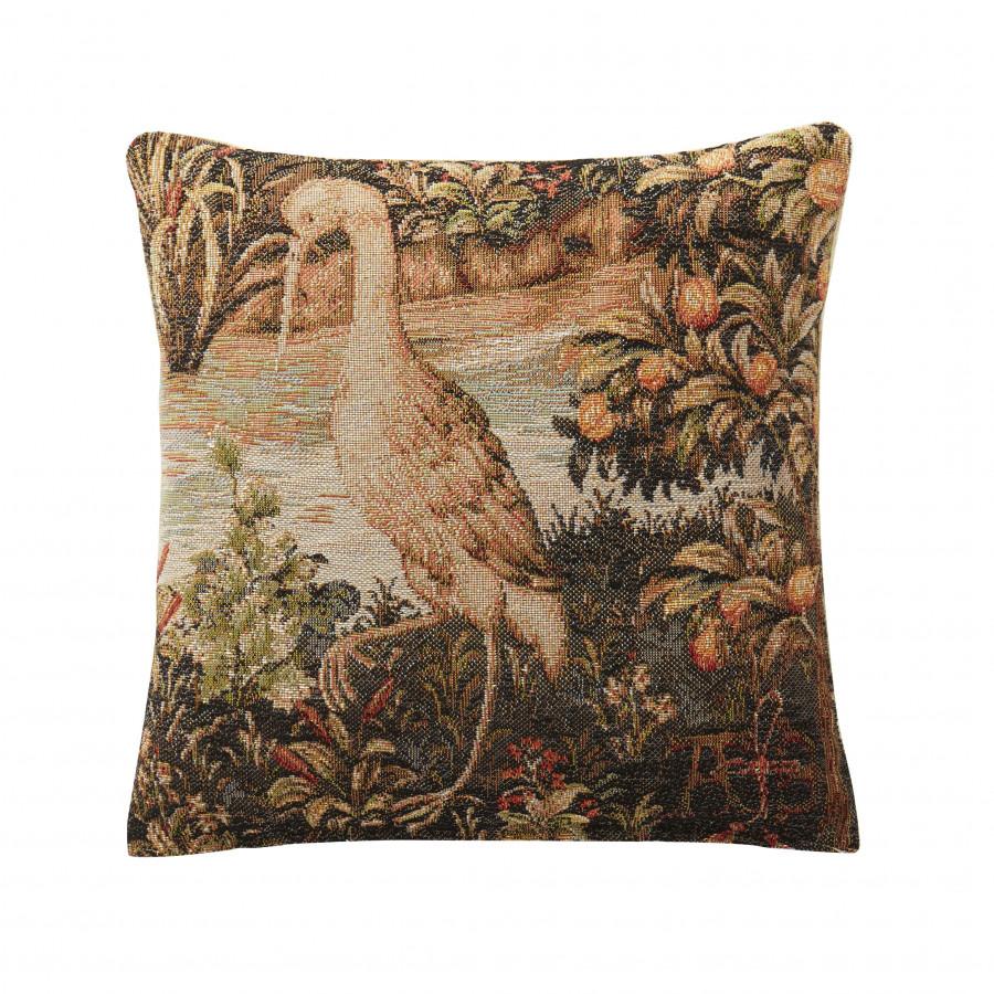 Petit coussin tapisserie Heron