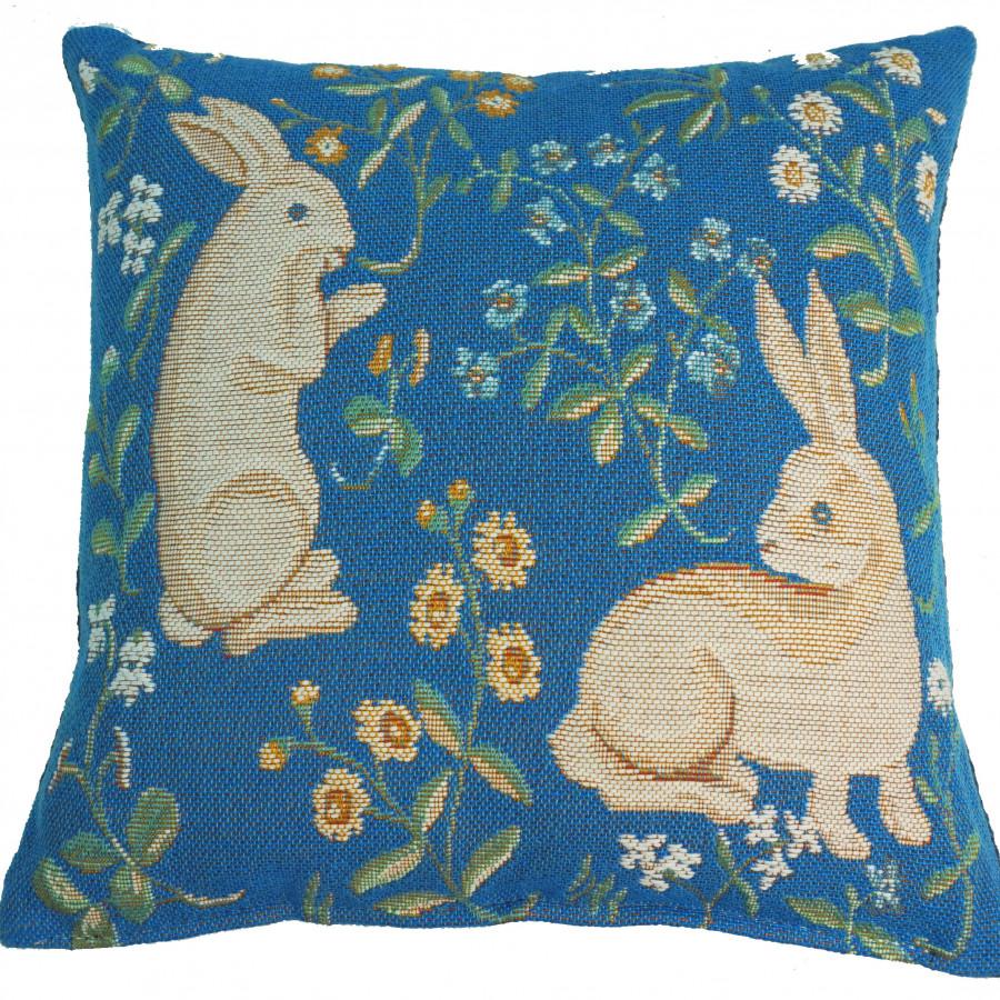 2055 :Deux lapins, fond rouge RMN