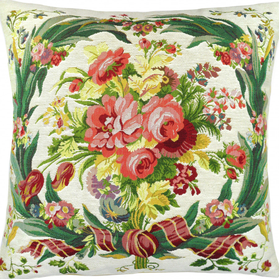 Cushion cover  Bouquet Fontainebleau