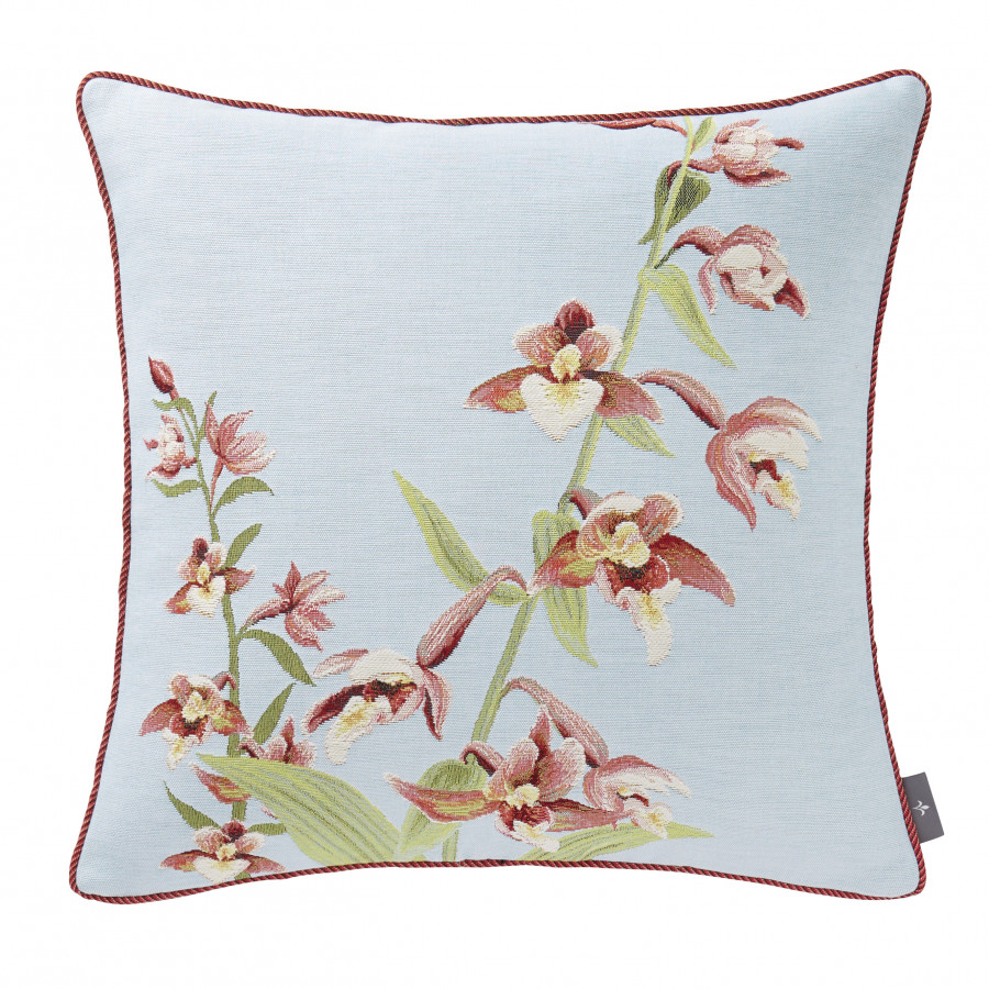 Tapestry cushion cover Orchids stems