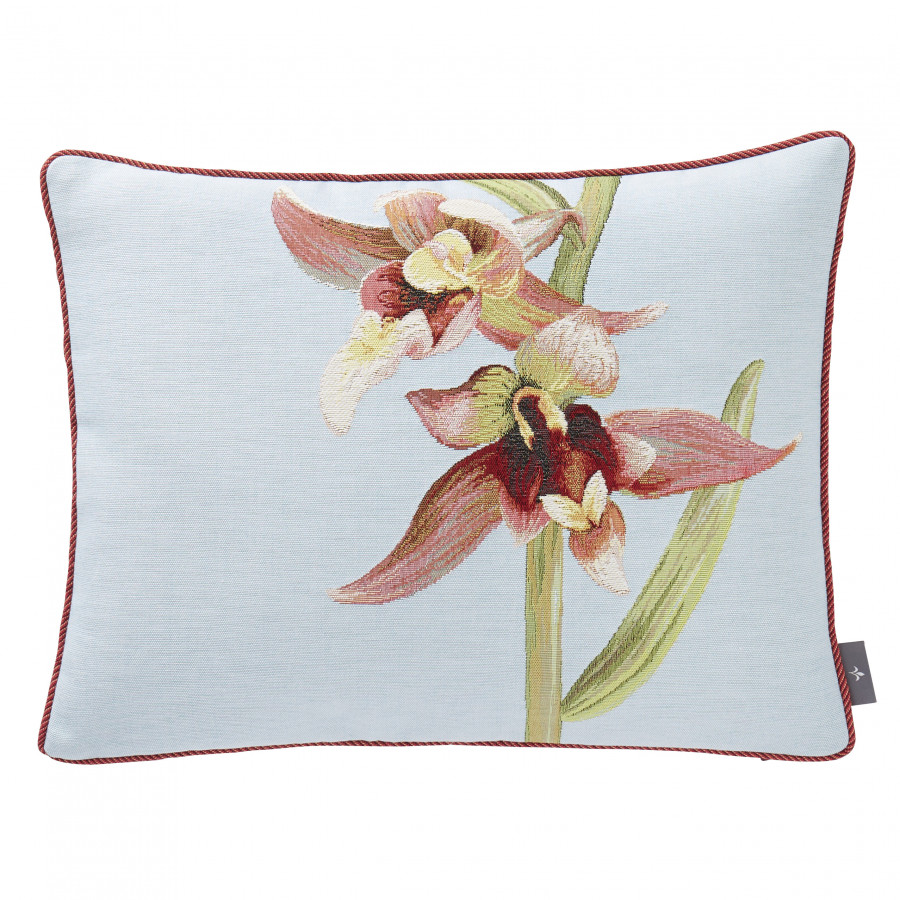 Tapestry cushion cover Two Orchids