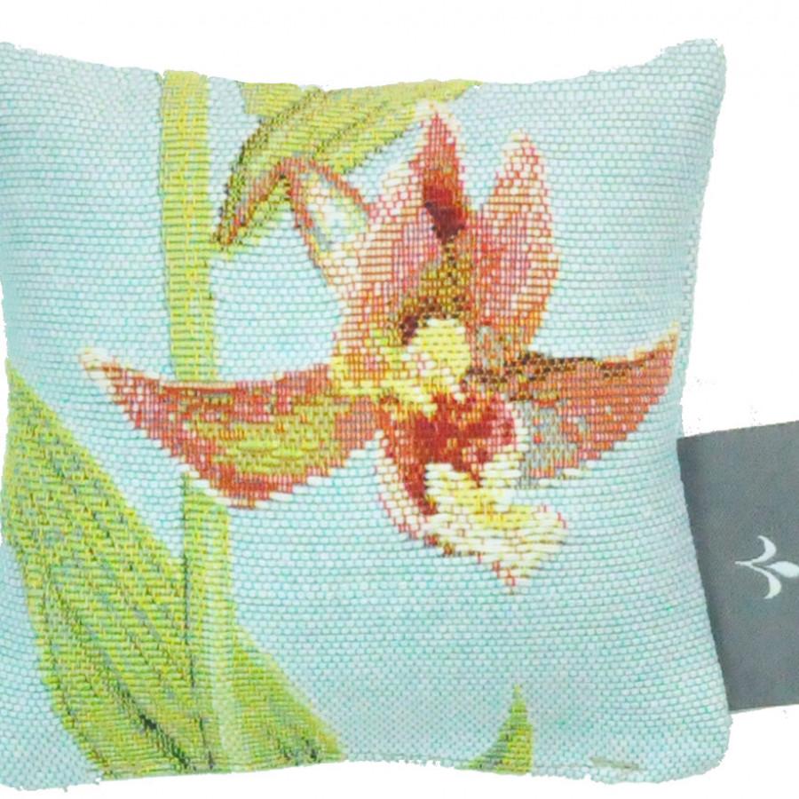 Mini coussin tapisserie senteur lavande Orchidée