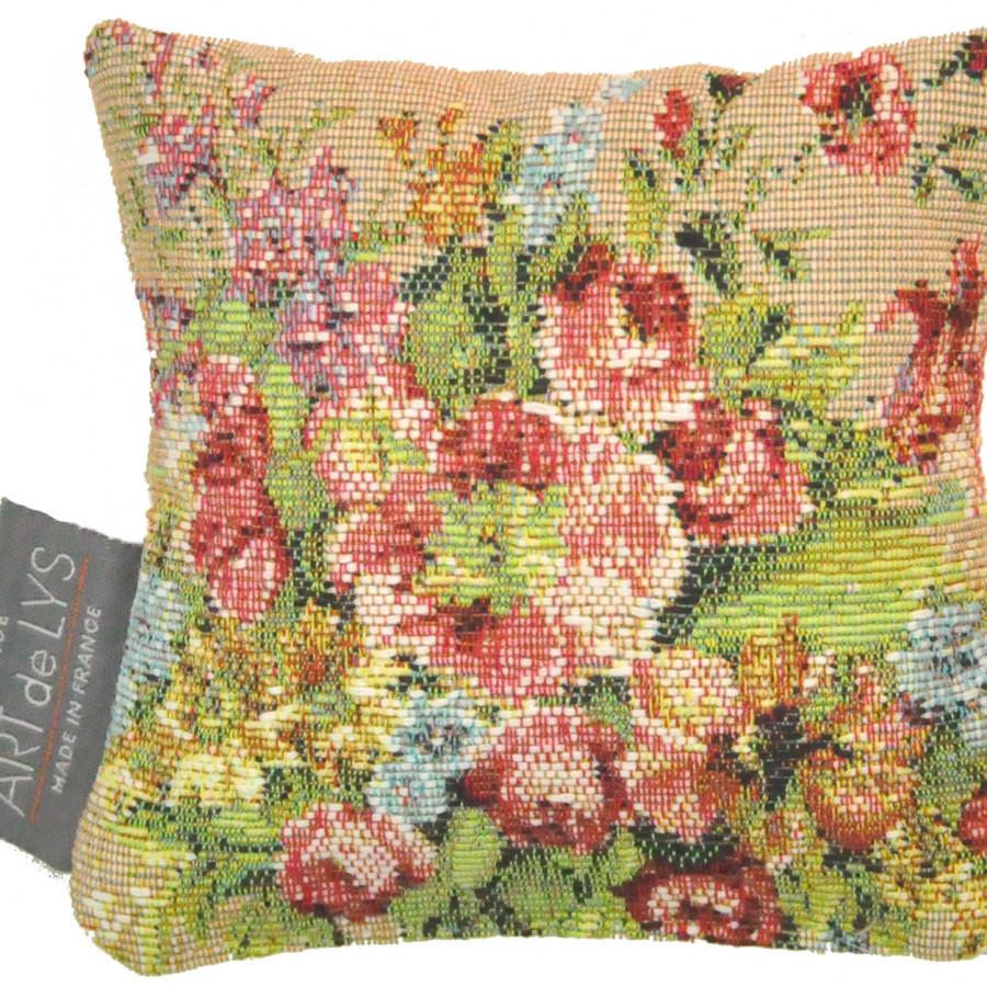 Mini coussin tapisserie senteur lavande Bouquet Marie Antoinette