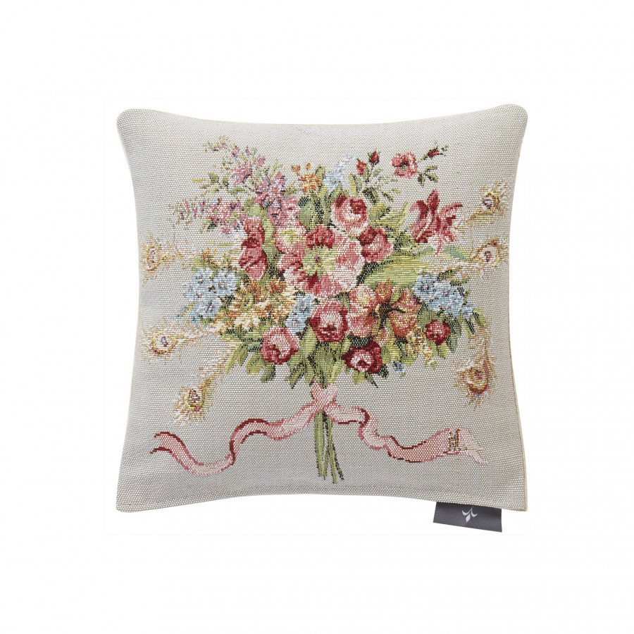 Tapestry cushion cover Bouquet Marie Antoinette