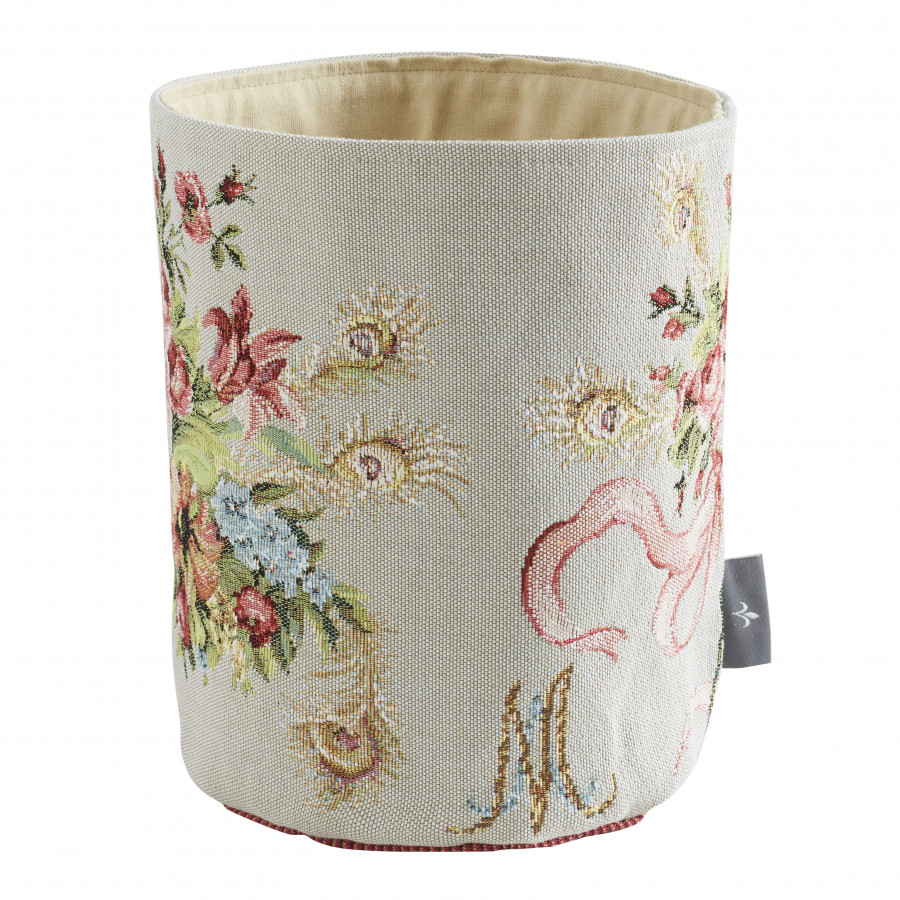 Small tapestry basket Bouquet Marie Antoinette