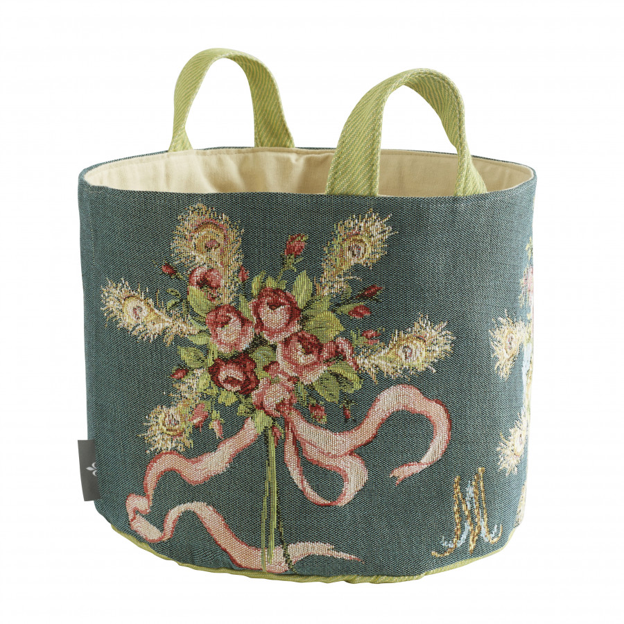 Tapestry basket Bouquet Marie Antoinette