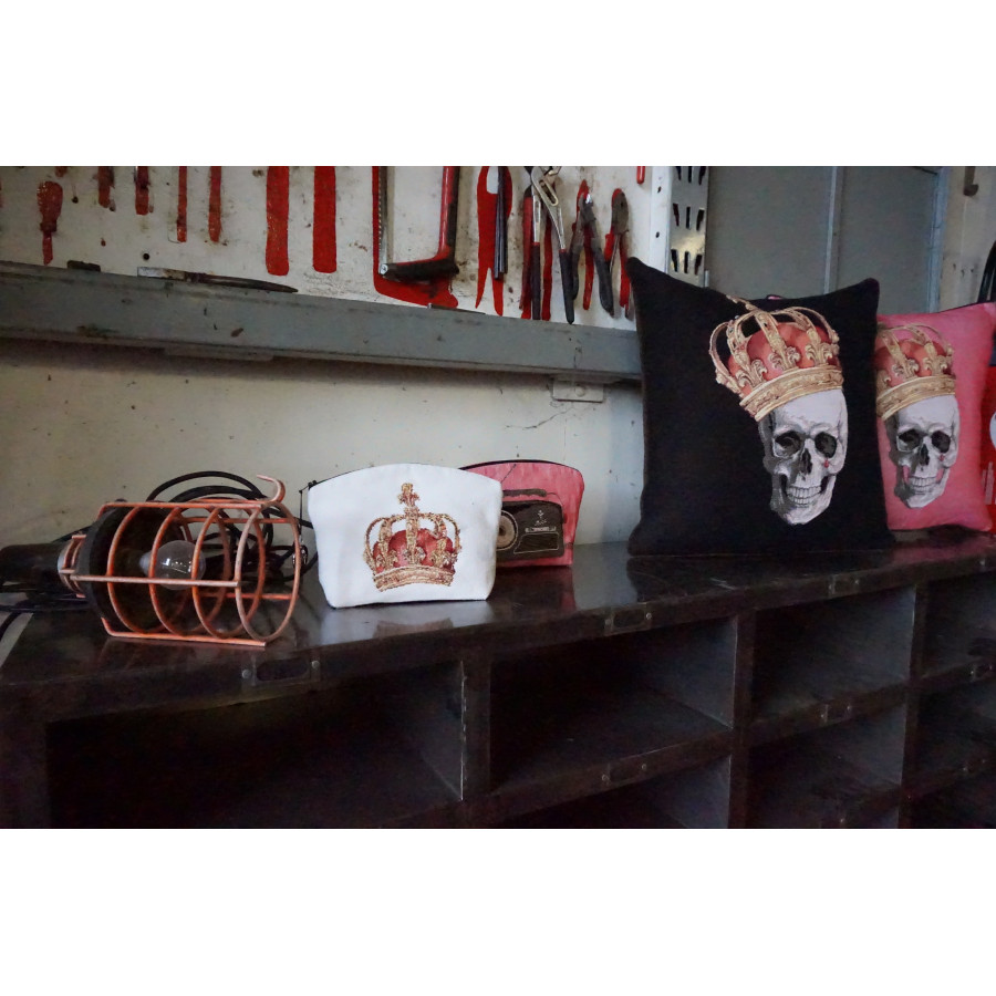 Tapestry cosmetic bag Skull with headphone