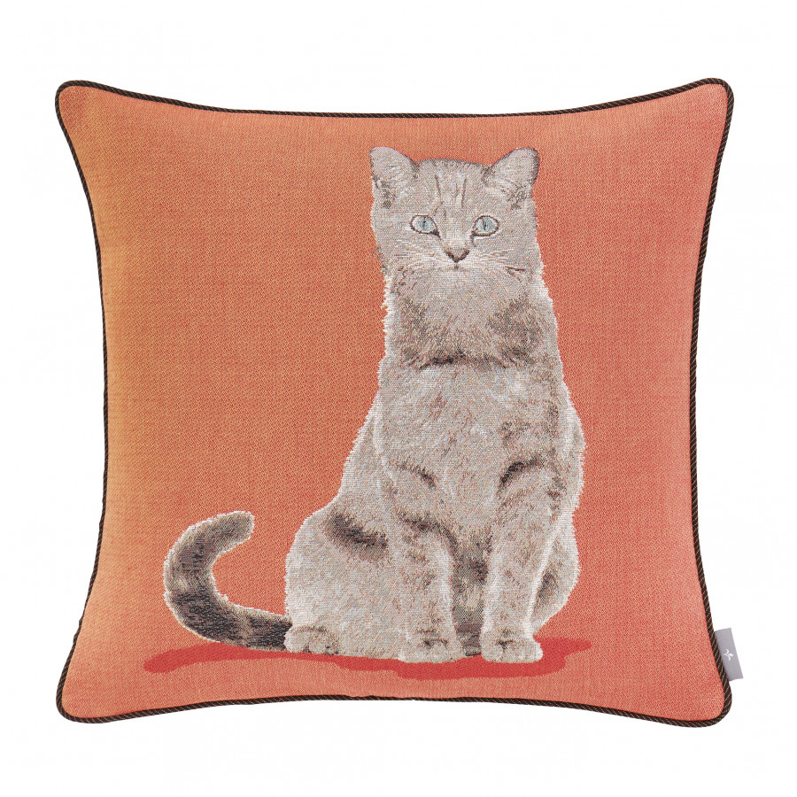 Tapestry cushion cover Cat