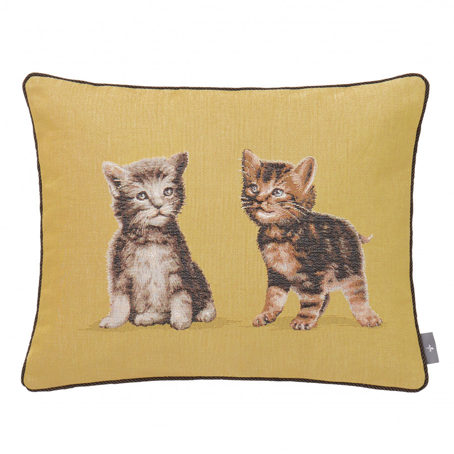 Tapestry cushion cover 2 kittens