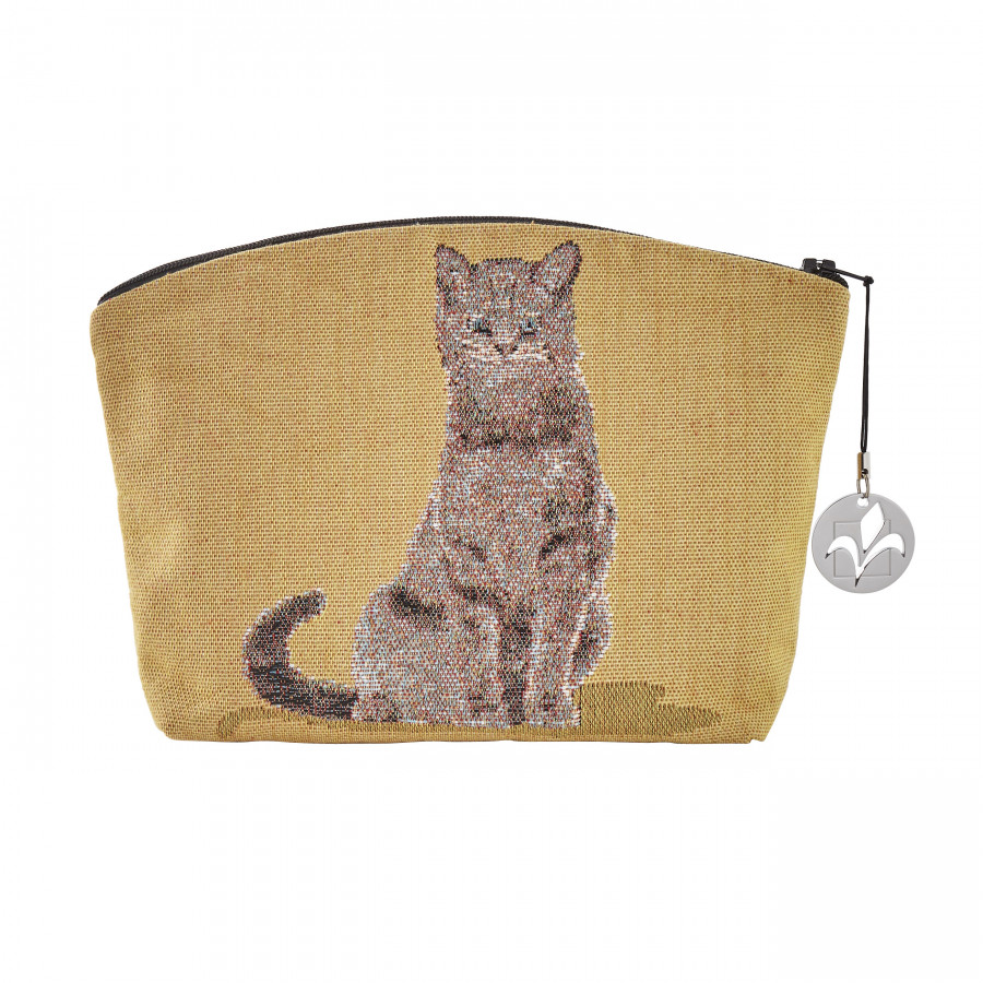 Tapestry cosmetic bag Sitting cat