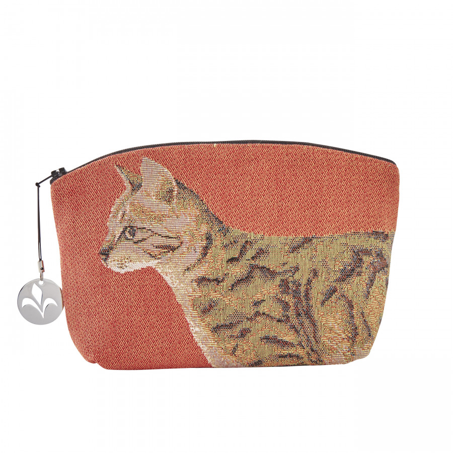 Tapestry cosmetic bag Walking cat