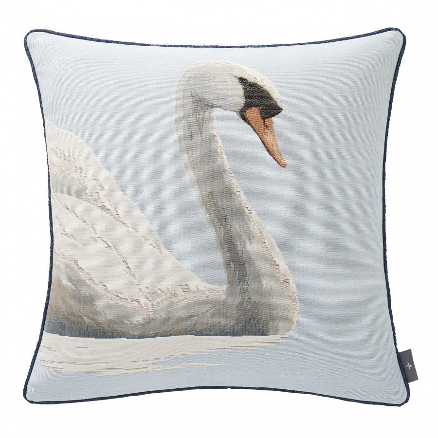 Tapestry cushion cover Swan