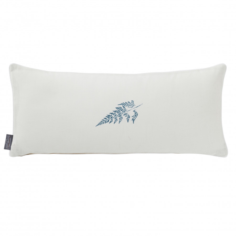Printed wedge cushion cover light leaves