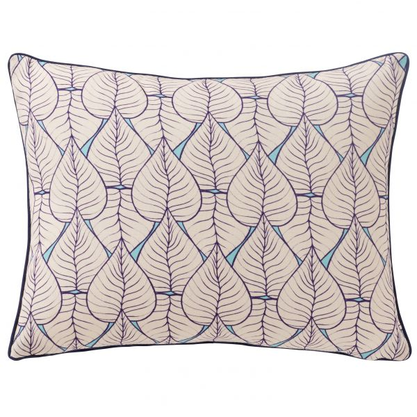 Printed cushion cover multi leaves rectangular