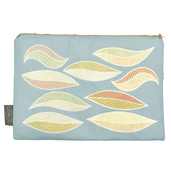 Printed purse light leaves