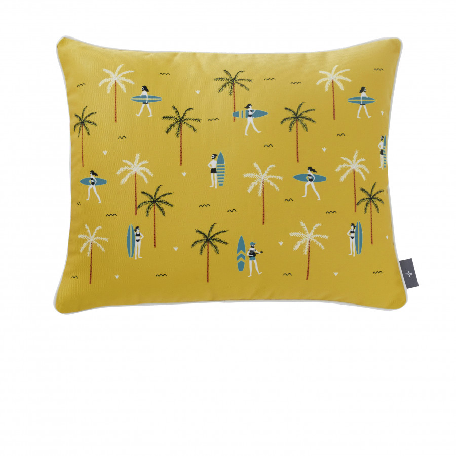 Printed cushion cover Surfers rectangular