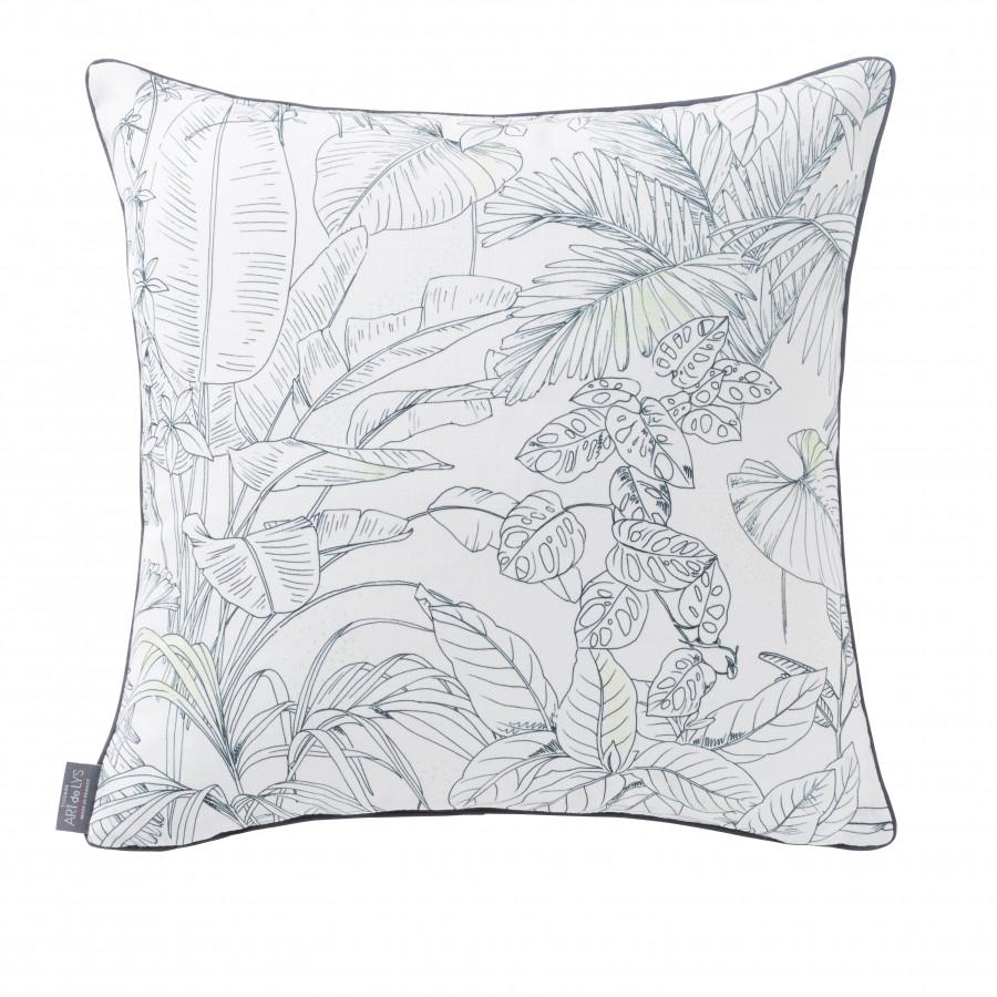 Housse de coussin imprimée Jungle oiseaux carrée