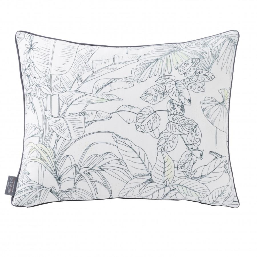 Housse de coussin imprimée Jungle oiseaux rectangulaire