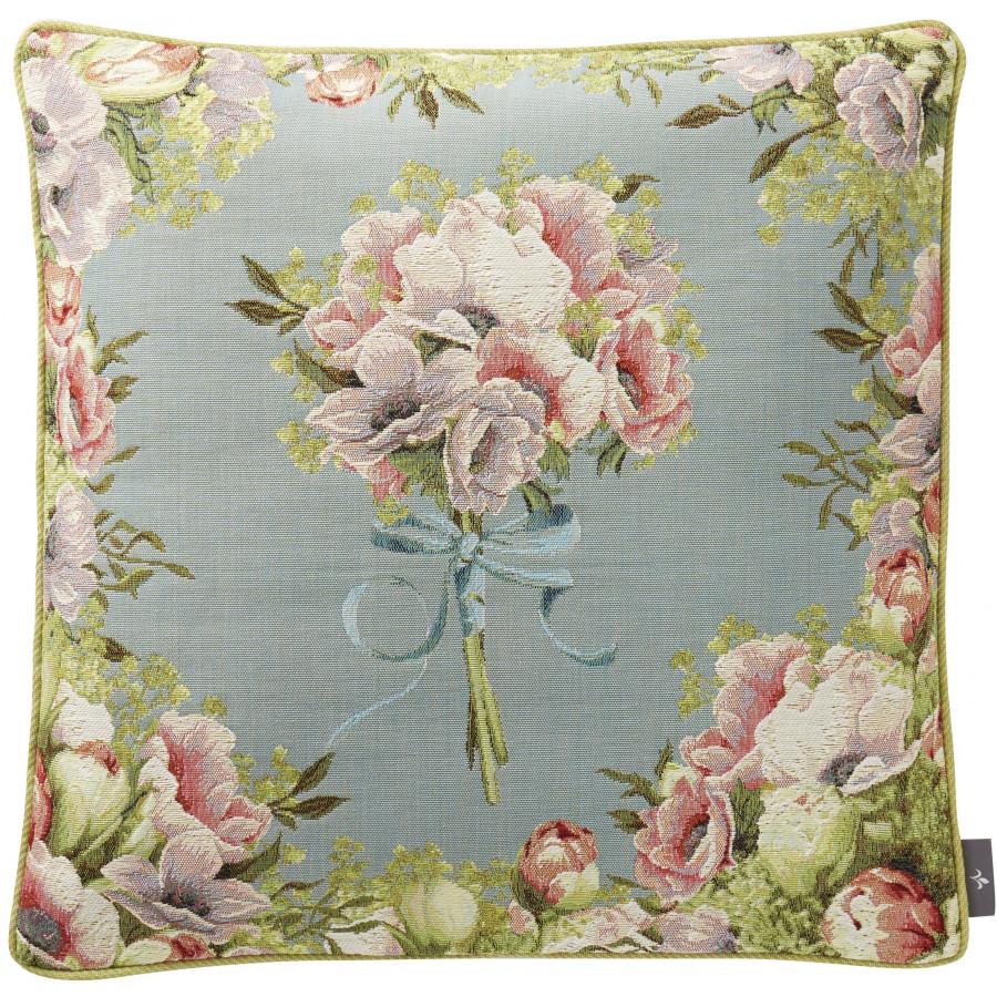 Housse de coussin tapisserie petit bouquet