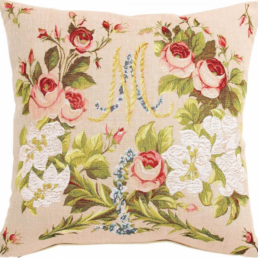 Housse de coussin tapisserie Marie Antoinette