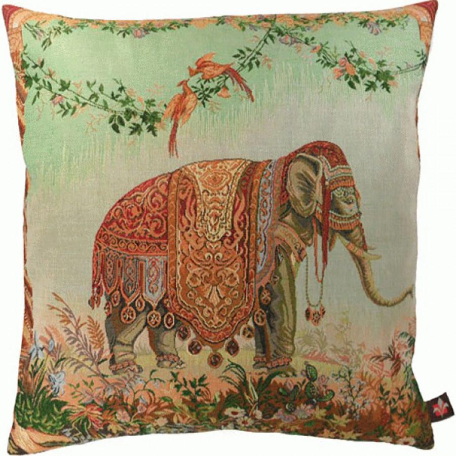 Housse de coussin tapisserie L'Eléphant