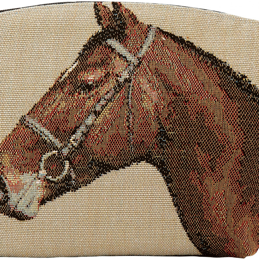 Tapestry cosmetic bag horses